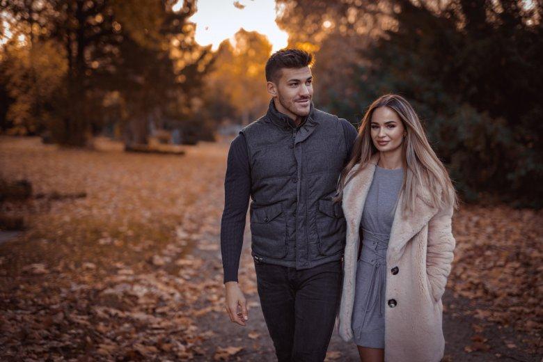 Herbst Fotoshooting von Pärchen in Witten